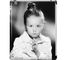 Emotional portrait of cute little girl in vintage style iPad Case/Skin