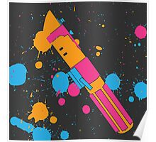 Darth Vader Lightsaber Paint Splatter (Full Color) Poster