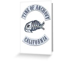Tins of Anchovy  Greeting Card