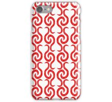 Red elegant pattern iPhone Case/Skin
