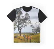 Black Cockatoos and Rainbow Graphic T-Shirt