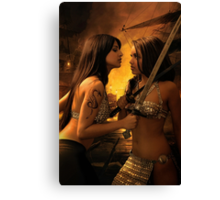 Hostile Negotiations Canvas Print