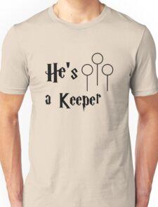 He is a Keeper Unisex T-Shirt
