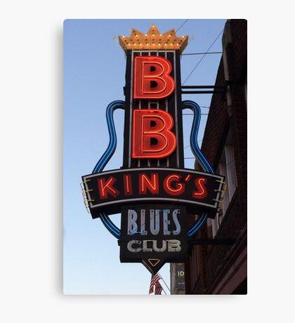 Neon Sign ~ BB Kings Blues Club Canvas Print
