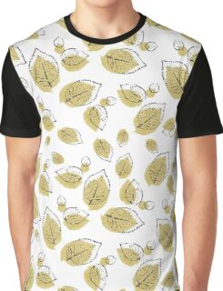 Plant Leaves Pattern Graphic T-Shirt