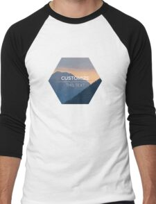 Beautiful nature mountains sunset customized Men's Baseball ¾ T-Shirt