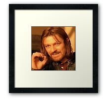 One Does Not Simply MEME Framed Print