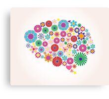 Abstract human brain, creative Canvas Print