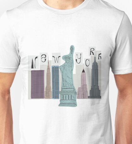 symbols of New York Unisex T-Shirt