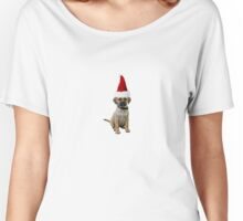 Puggle Santa Claus Merry Christmas Women's Relaxed Fit T-Shirt