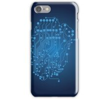 Human brain, logical thinking iPhone Case/Skin