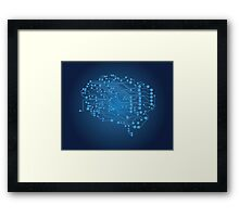 Human brain, logical thinking Framed Print