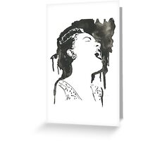 Billie Holiday Lady Sings The Blues  Greeting Card