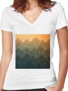 HillsHillsHills #3 Women's Fitted V-Neck T-Shirt
