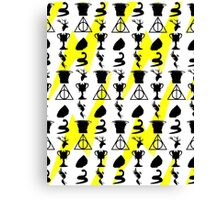 Harry Potter Book Collection Symbols With Scar Canvas Print