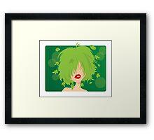 Young natural girl Framed Print
