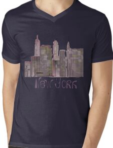 skyscrapers of New York Mens V-Neck T-Shirt