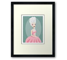 Beautiful young queen, Marie Antoinette, in pink gown Framed Print