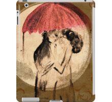 Love in the rain iPad Case/Skin
