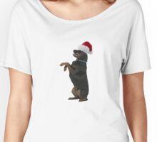 Rottweiler Santa Claus Merry Christmas Women's Relaxed Fit T-Shirt