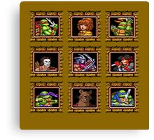 TMNT 16 bit textured Canvas Print