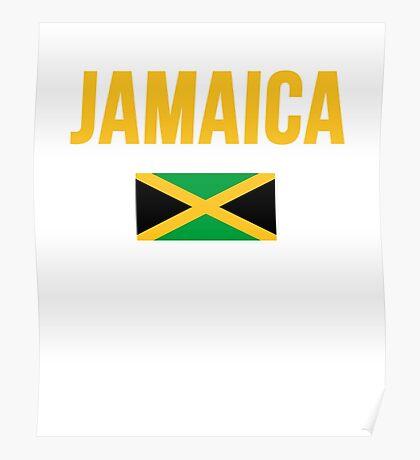 Jamaica Jamaican Flag Poster