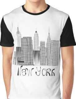 skyscrapers of New York Graphic T-Shirt
