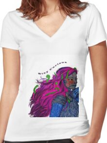 Android dreams and awakenings Women's Fitted V-Neck T-Shirt