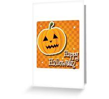 Happy Halloween card with pumpkin Greeting Card