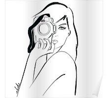 photographer girl Poster