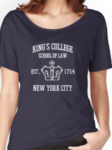 king's college Women's Relaxed Fit T-Shirt