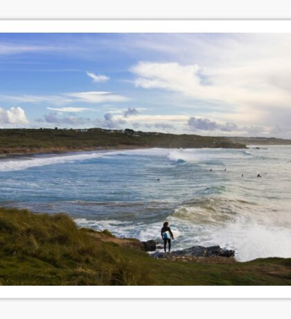 Surfing Godrevy Sticker