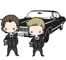 Supernatural Cartoon Dean & Sam by Ladannnn