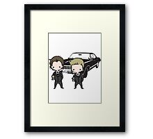 Supernatural Cartoon Dean & Sam Framed Print