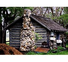 Rustic Log Cabin Photographic Print
