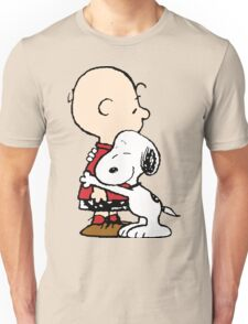 Snoopy Hugs Charlie Unisex T-Shirt