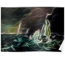 Stormy Sea Poster