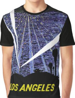 Vintage Airline Los Angeles California Travel Graphic T-Shirt