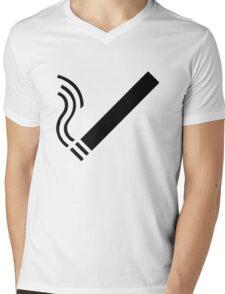 Cigarette Mens V-Neck T-Shirt