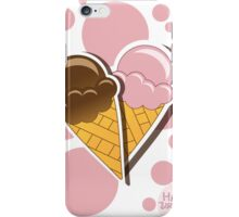 Ice cream happy birthday card with bubbles iPhone Case/Skin