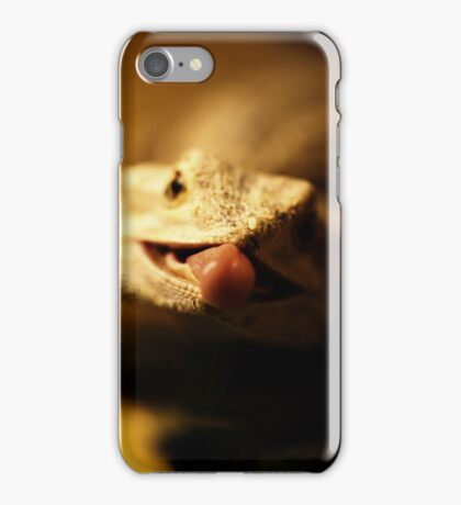 iguana tongue iPhone Case/Skin