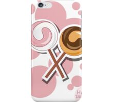 Lollipop happy birthday card with bubbles iPhone Case/Skin