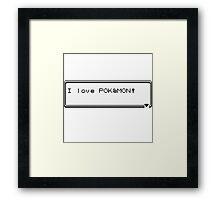 I love Pokémon Framed Print