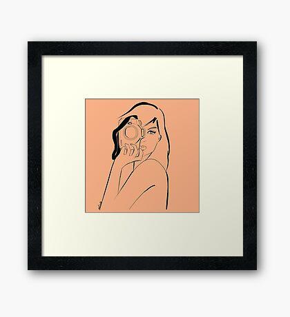 photo-girl pastel1 Framed Print