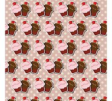 Cup cake background Photographic Print