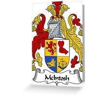McIntosh Coat of Arms / McIntosh Family Crest Greeting Card