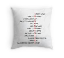 Shadowhunters Characters Throw Pillow