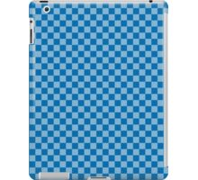 Checkered Blue and Light Blue Pattern iPad Case/Skin
