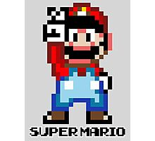 Super Mario 16 bit Victory Pose Photographic Print
