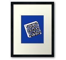 The Cube in Blue - Würfel in Blau Framed Print